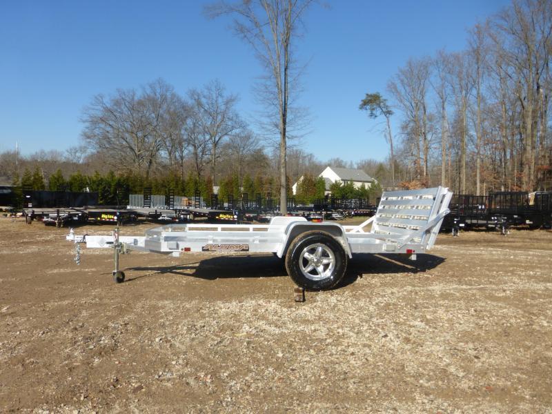 "Aluma 77"" x 10' 3K Aluminum Landscape Trailer w/ Bi-Fold Tailgate"