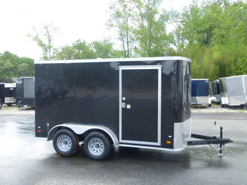 Covered Wagon Trailers 7' X 12' Tandem Axle Enclosed Cargo Trailer w/Cargo Doors in the Rear