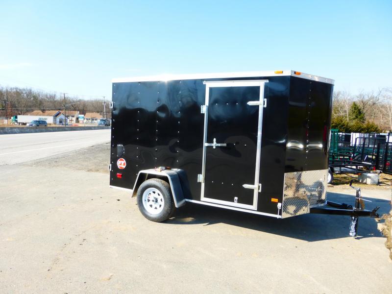 Wells Cargo 6' x 10' Black Enclosed Cargo Trailer w/Cargo Doors in the Rear
