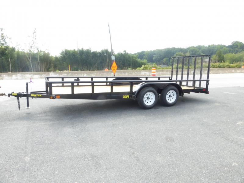 Big Tex 7' x 20' Landscape Trailer w/ Pipe Top Rails