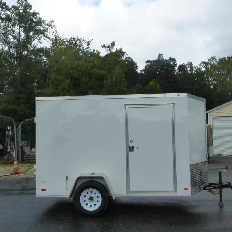 Covered Wagon 6' x 10' V-Nose Enclosed Trailer w/ Cargo Doors
