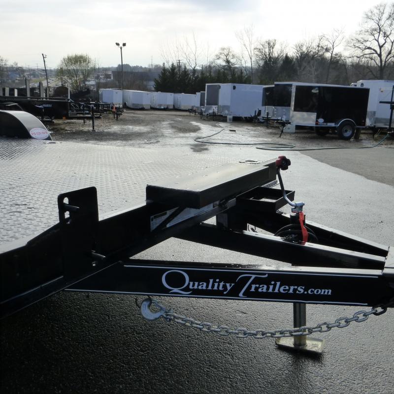 Quality Trailers 7' x 18' Solid Steel Deck Car Hauler
