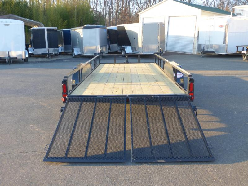Belmont Machine 7' x 18' Utility Trailer w/ Split Mesh Ramps