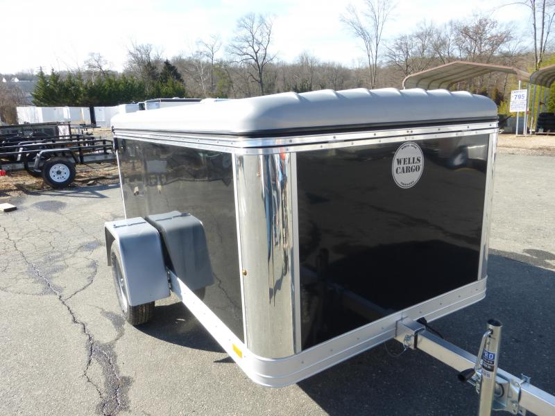 Wells Cargo Black MPT 581 Cargo Trailer w/ Flip Top Roof