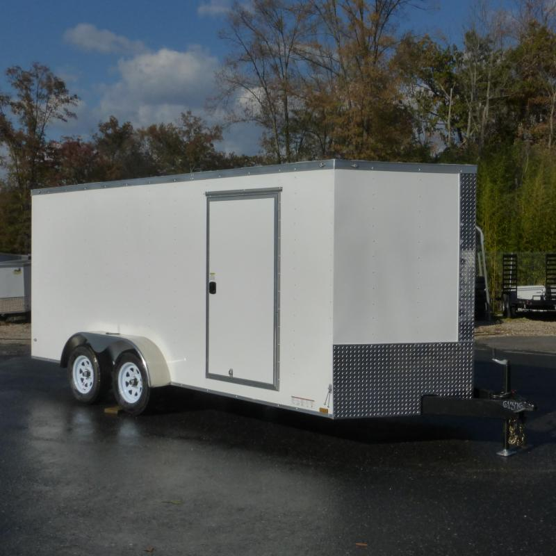 Diamond Cargo 7x16 Enclosed Cargo Trailer w/ Extra Interior Height