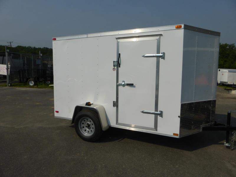 Lark 6' x 10' Flat Nose Enclosed Trailer w/ Cargo Doors