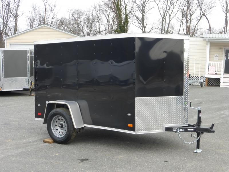 Covered Wagon Trailers 5' x 8' Black Enclosed Cargo w/Ramp