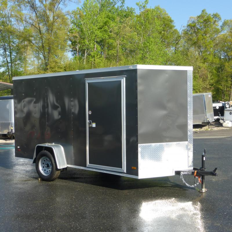 Diamond Cargo 6' x 12' Charcoal Enclosed Trailer w/ Ramp