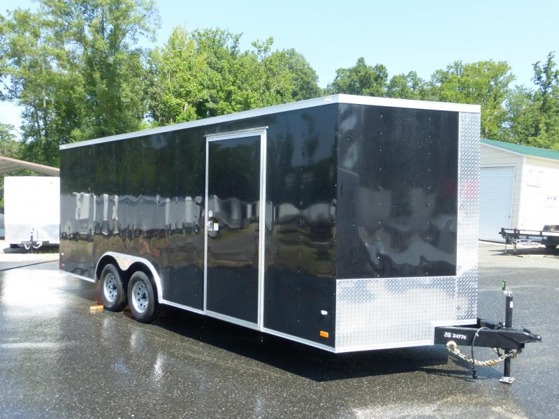 Covered Wagon 8.5' x 20' Black V-Nose Enclosed Car Hauler Trailer