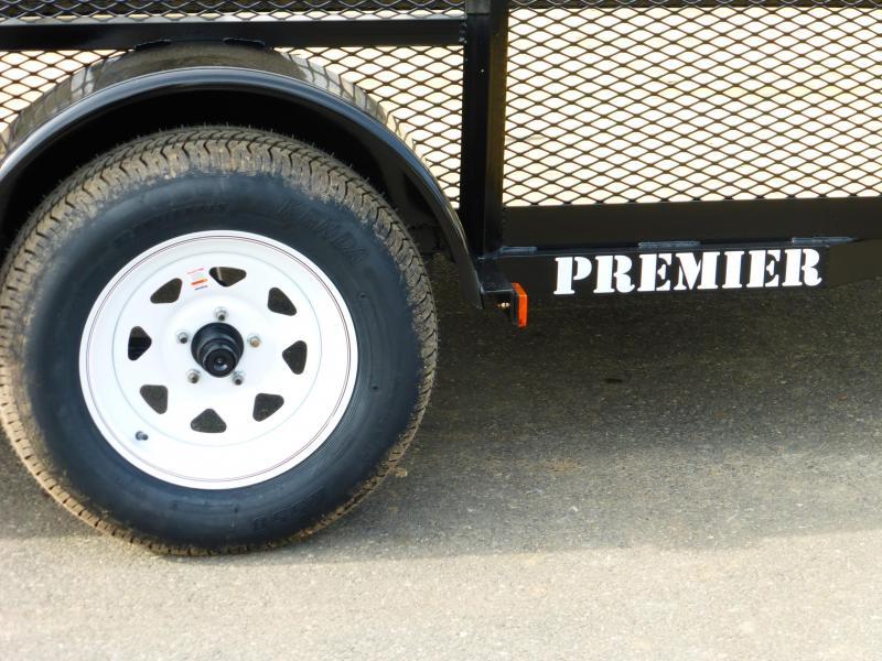 "Premier Trailers Inc. 6' x 12' Utility Trailer w/24"" Mesh Sides"
