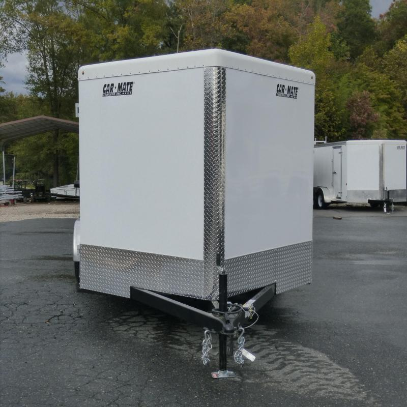Car Mate 6' x 12' Charcoal Enclosed Cargo Trailer