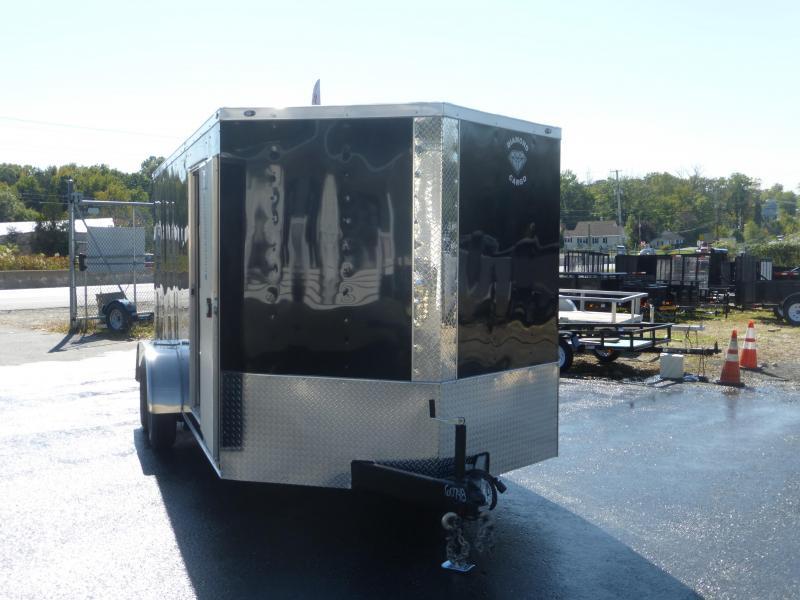 Diamond Cargo 7' x 16' Black Tandem V-Nose Enclosed Trailer w/Ramp