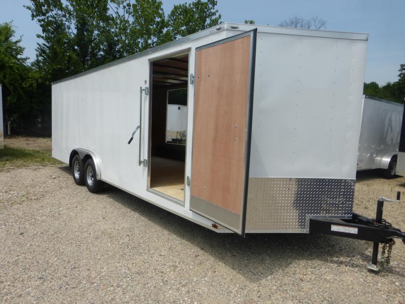 10K Lark 8.5' x 24' Enclosed Car Hauler w/ Escape Door & Torsion Axles