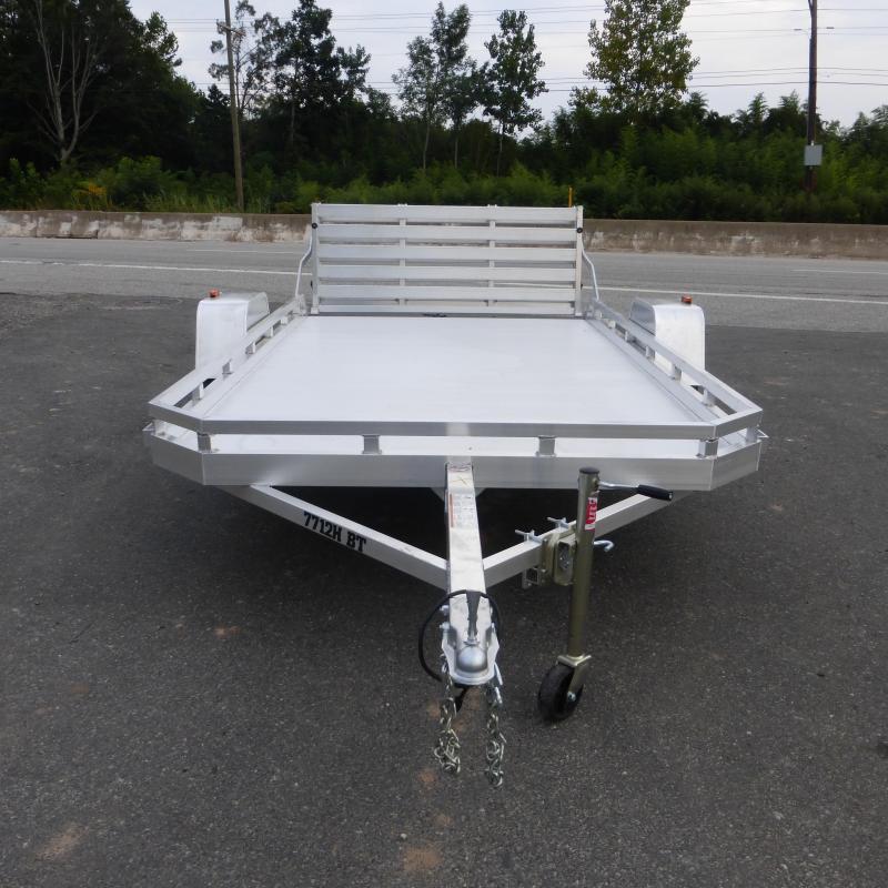 "Aluma 77"" x 12' Aluminum Utility Trailer w/ Bi-Fold Tailgate"