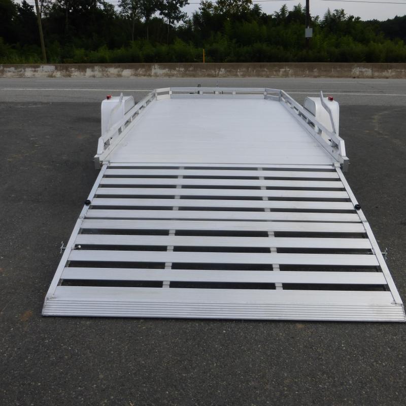 "Aluma 77"" x 12' 3K Aluminum Utility Trailer w/ Bi-Fold Tailgate"