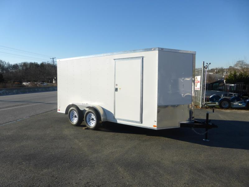 Covered Wagon 7' X 14' Tandem Enclosed Cargo Trailer w/Ramp