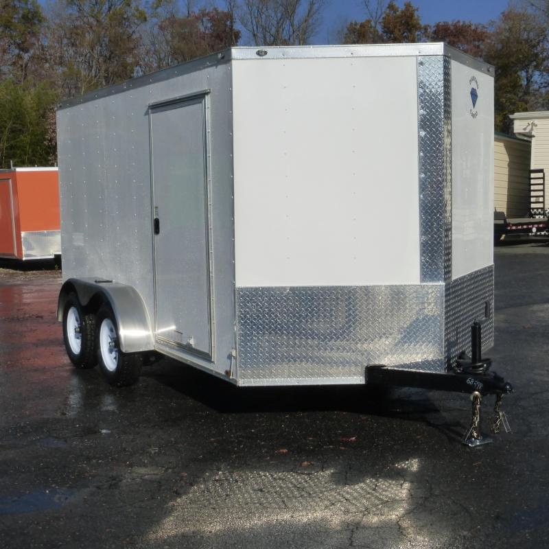 Diamond Cargo 7' x 12' V-Nose Enclosed Trailer w/ Ramp