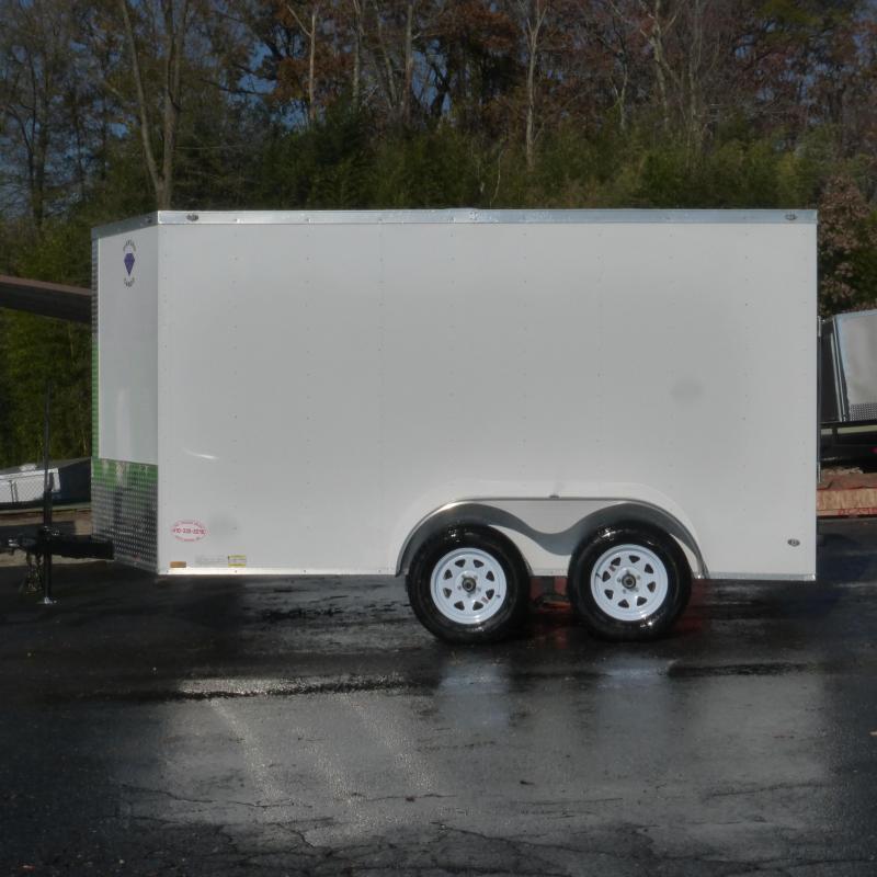 Diamond Cargo 7' x 12' V-Nose Enclosed Trailer w/ Ramp