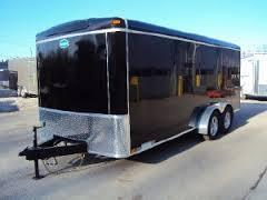 United 7' x 14' Black Enclosed Trailer w/Ramp