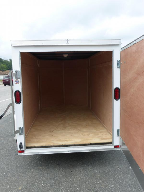 Lark 5' x 10' Enclosed V-Nose Trailer w/ Single Swing Door in Rear