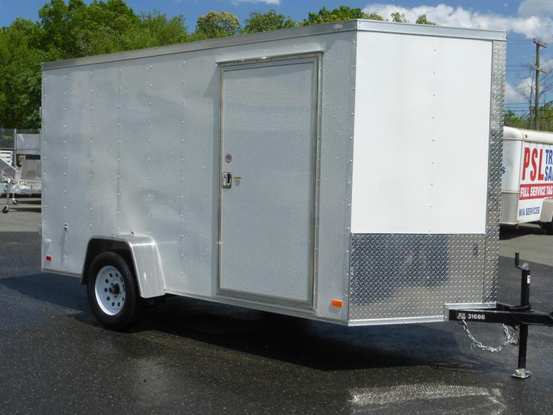 Covered Wagon 6' x 12' Enclosed Cargo Trailer with Cargo Doors