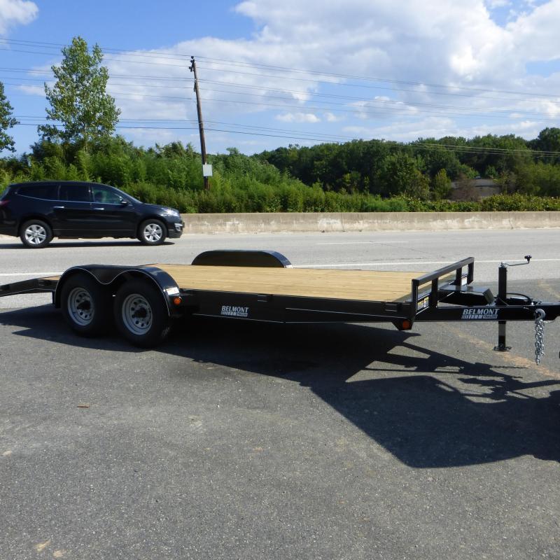Belmont 7' x 18' Wood Deck Car Hauler Trailer