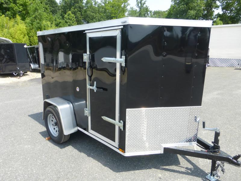 Lark 5' x 8' Black Enclosed Trailer w/Ramp