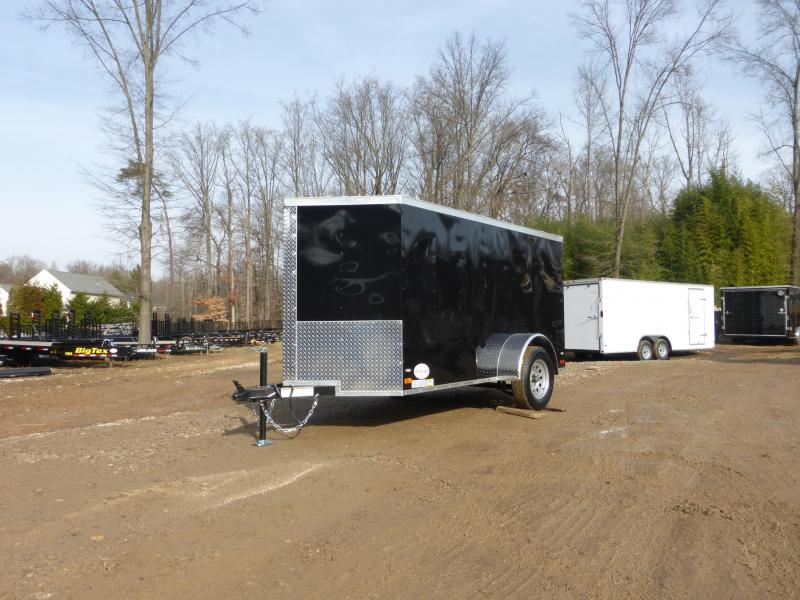Lark Black 5' X 10' V-Nose Enclosed Cargo Trailer w/Single Swing Door