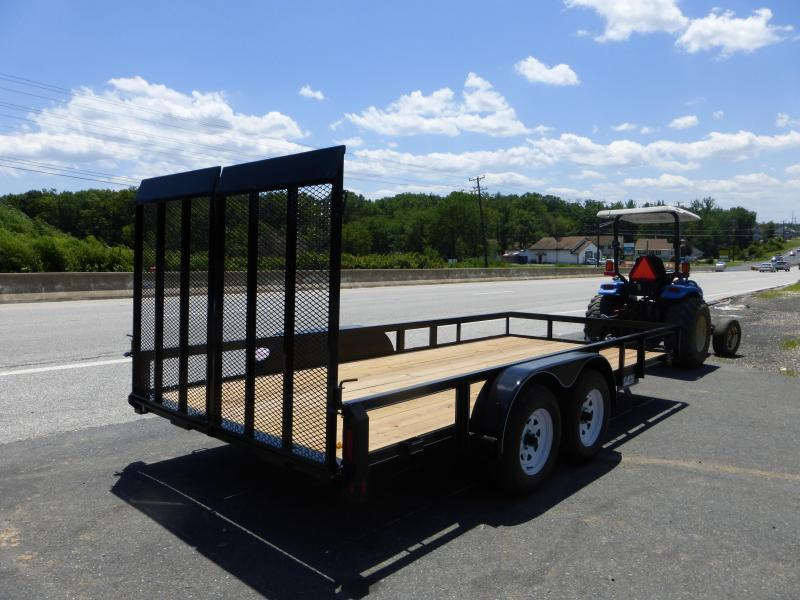 Belmont Machine 7' x 16' Landscape Trailer w/ Split Mesh Gate