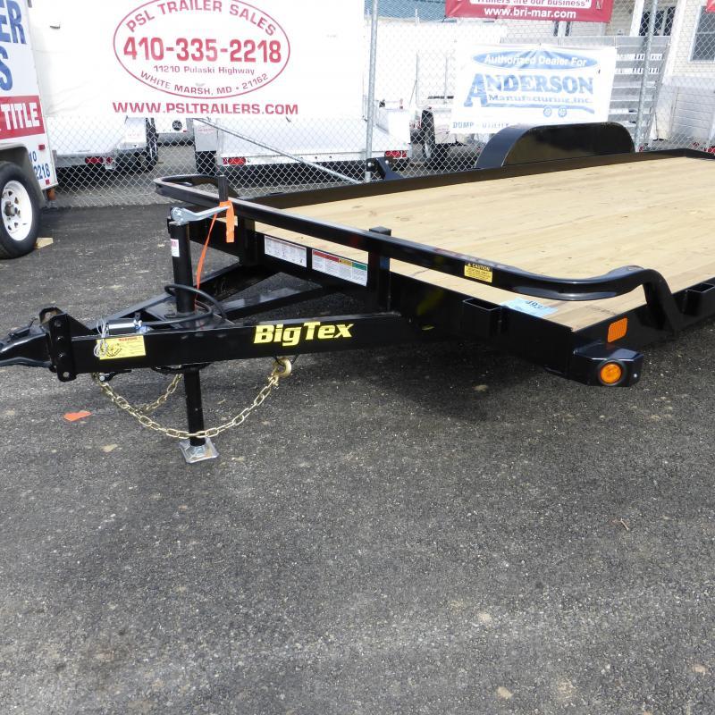 Big Tex Trailers 7' x 18' Wood Deck Car Hauler w/ dovetail