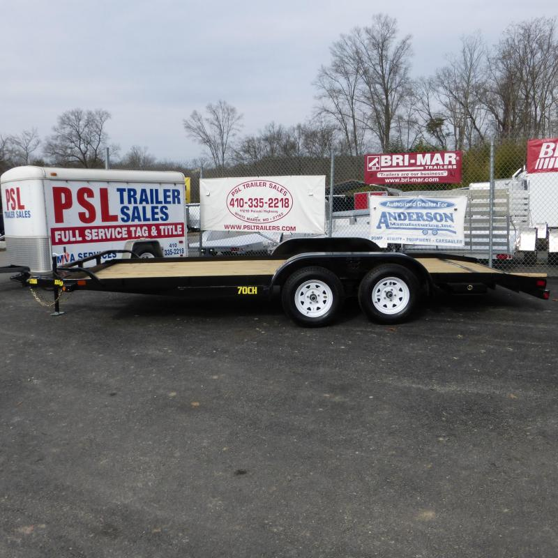 Big Tex Trailers 7' x 18' Wood Deck Car Hauler w/ dovetail