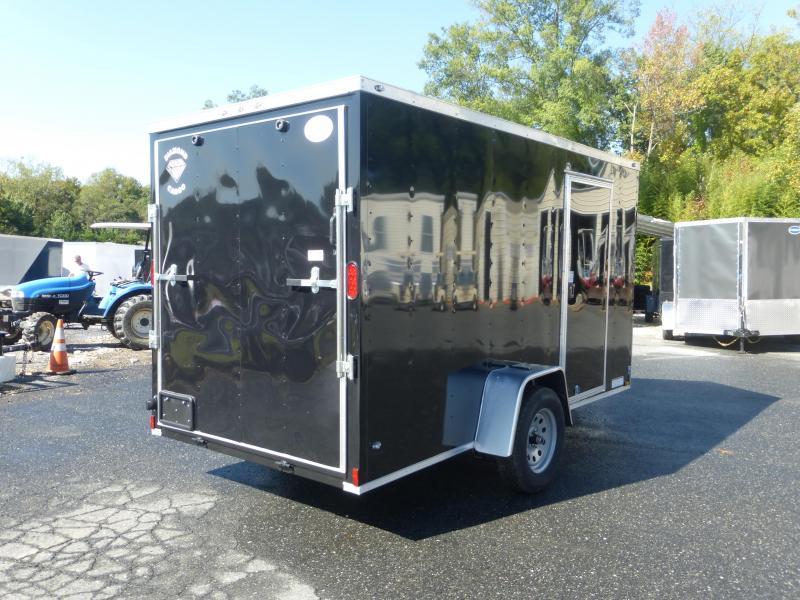 Diamond Cargo 6' x 12' Black Enclosed Trailer w/ Cargo Doors