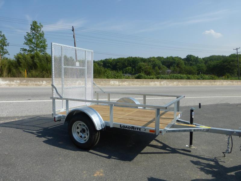 Load Rite 5' x 8' Galvanized Utility Trailer
