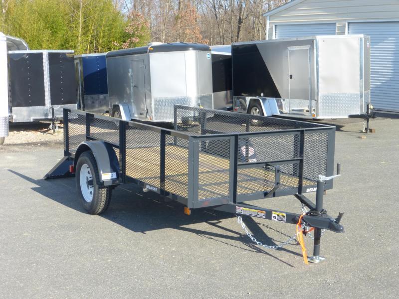 "Belmont Machine 5' x 10' Utility Trailer w/ 24"" Mesh Sides"
