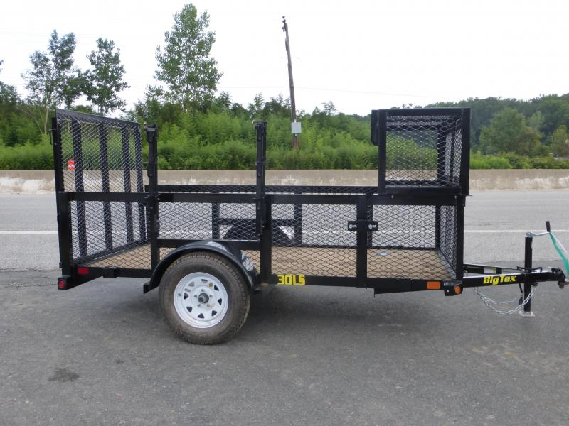 Big Tex 5' x 10' Landscape Trailer w/ Mesh Sides and Box