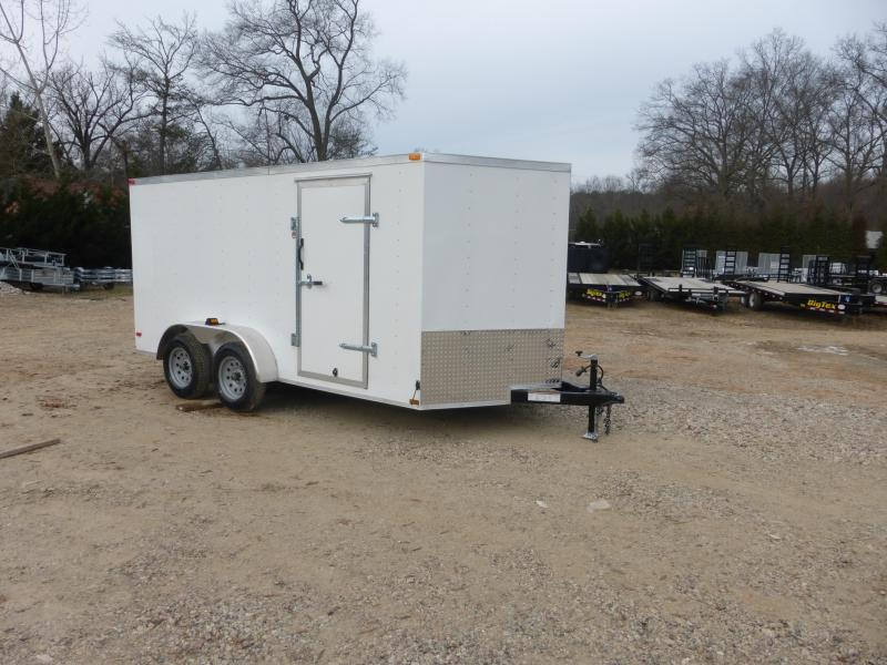 Lark 7' x 14' Tandem V-Nose Enclosed Trailer  w/ Ramp