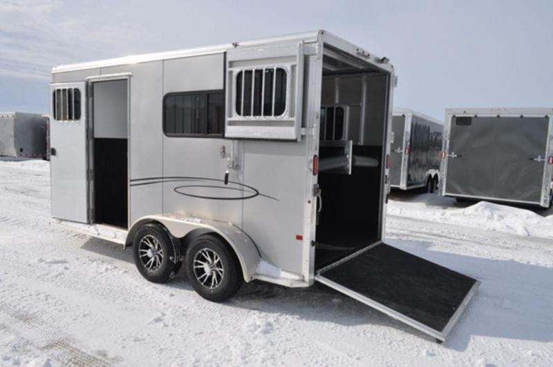 2019 Frontier Ambassador 2 Horse Straight Load All Aluminum Trailer