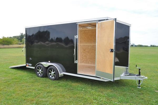 2020 Haul-it All Aluminum 7 x 16 Enclosed Cargo Trailer For Sale