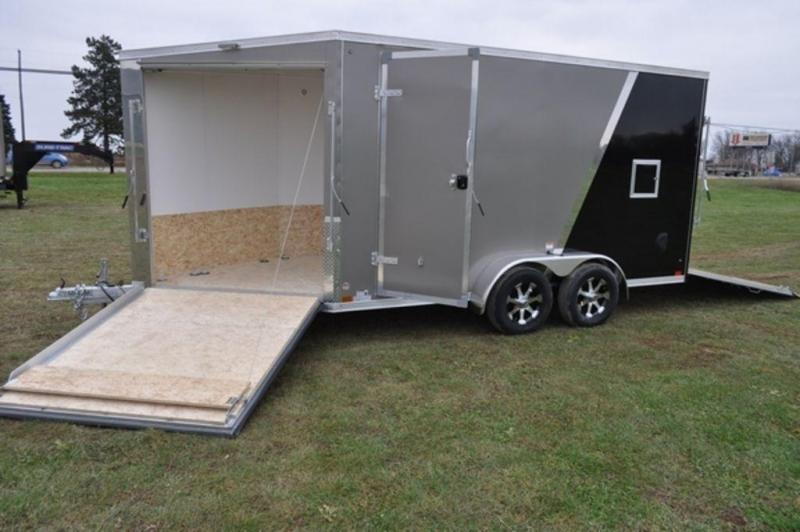 2019 Haul-It 7 x 19 All Aluminum Snowmobile Trailer w/ 7' Interior in Ashburn, VA