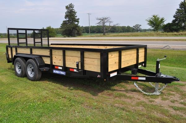 2020 Sure-Trac 7 x 16 3 Board 10K Utility Trailer For Sale