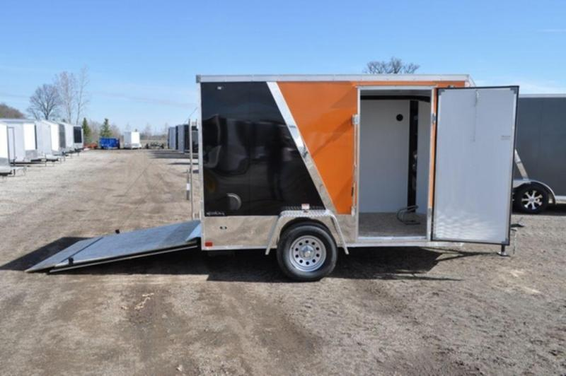 2020 Stealth 6 x 10 Two Tone Wedge Nose Motorcycle Trailer
