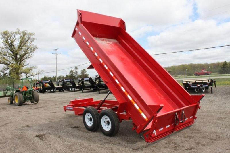 2019 Sure-Trac 82 x 14 Red Hydraulic Dump Trailer in Ashburn, VA