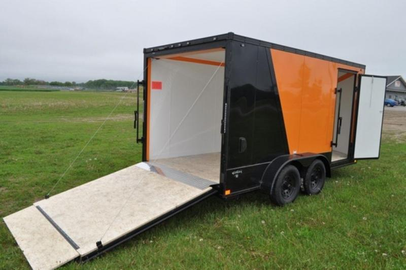 2020 Stealth 7 x 14 Two Tone Wedge Nose Motorcycle Trailer
