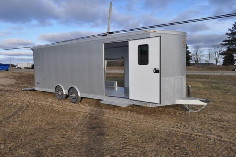 2019 InTech All Aluminum 8.5 x 26 Wedge Nose Enclosed Car Trailer in Ashburn, VA