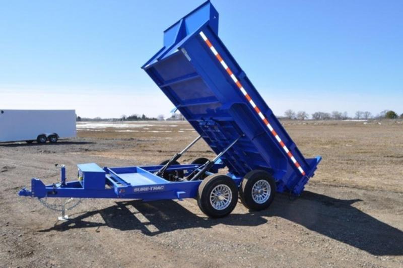 """2018 Sure-Trac 82"""" x 12' Dump Trailer w/ Aluminum Wheels in Ashburn, VA"""