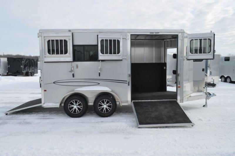 2019 Frontier 2 Horse Straight Load All Aluminum Bumper Pull Trailer