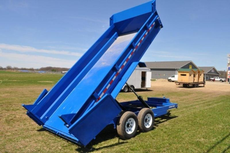 "2019 Sure-Trac 82"" x 16' Low Pro Blue Dump Trailer in Ashburn, VA"