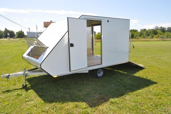 "2020 Sport Haven 101"" x 13' Standard Hybrid for Sale Snowmobile Trailer"