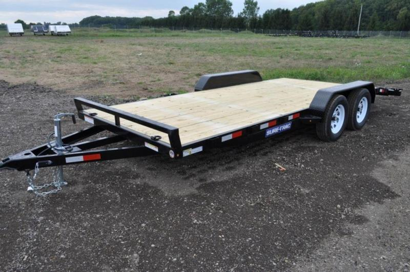 2019 Sure-Trac 7 x 18 Wood Deck Car Trailer For Sale