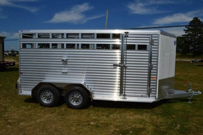 2019 Frontier All Aluminum 7 x 16 Livestock Trailer For Sale